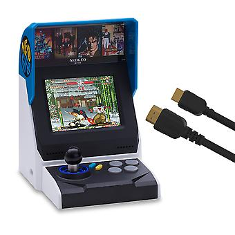 Neogeo mini console: international edition plus hdmi cable (includes 40 games)