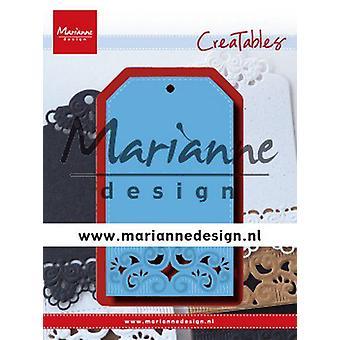 Marianne Design Creatables Schneidedies - Classic Label LR0617 120x160 mm