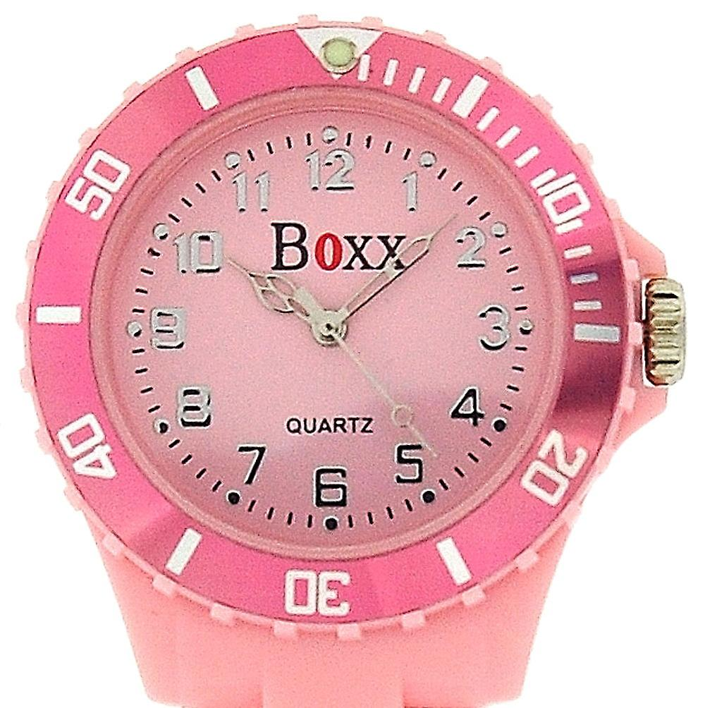 Boxx Baby Pink Rotating Bezel Nurses Fob Watch F043