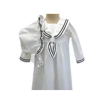 Unisex Baptismal Gown In Sailor Look - Grace Of Sweden