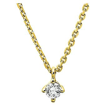 Diamond Collier Necklace - 14K 585/- Yellow Gold - 0.08 ct. - 4A307G4-1