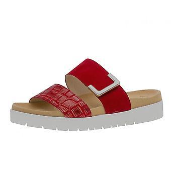Gabor Euphoria Comfortable Metallic Fashion Sandals In Red