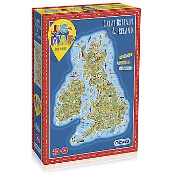 Gibsons Jigsaw Puzzle - The Jig Map Uk & Ireland, 150 Piece