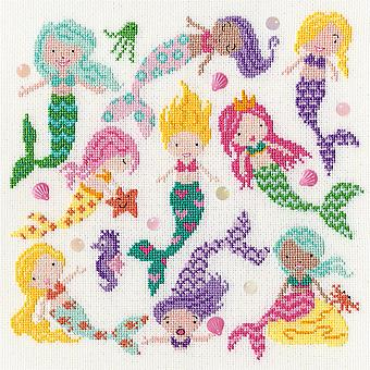 Bothy Threads Ristipisto Kit - Hieman Dotty Mermaids