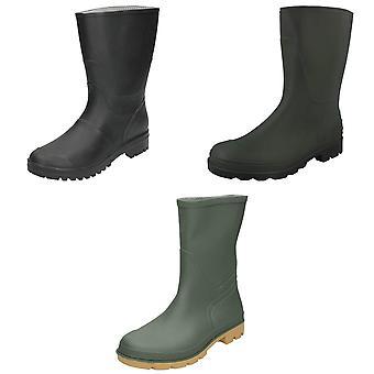 Spot On Mens Short Wellington Boots