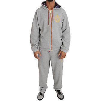 Gray cotton sweater pants tracksuit a43