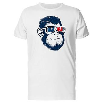 Macaco com óculos 3D Tee MASC-imagem por Shutterstock