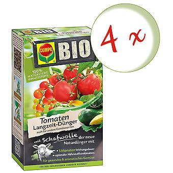 Sparset: 4 x COMPO BIO tomatoes Long-term fertilizer with sheep's wool, 750 g