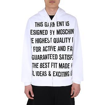 Moschino 170370271001 Mænd's Hvid bomuldsst sweatshirt