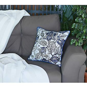 17&x 17&; Modrá žakárová weaver dekorativní hodit polštář kryt