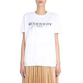 Givenchy Bw707z3z3q100 Women's White Cotton T-shirt