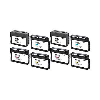 HP 932XL の RudyTwos 2 倍交換 + 933XL インク ユニット ブラック シアン マゼンタ ・黄色互換性 Officejet 6100、6600、6700、7110、7600、7610、7612