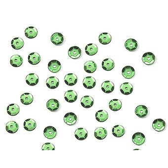 200 Dark Green 8mm Round Cupped Sequins for Crafts