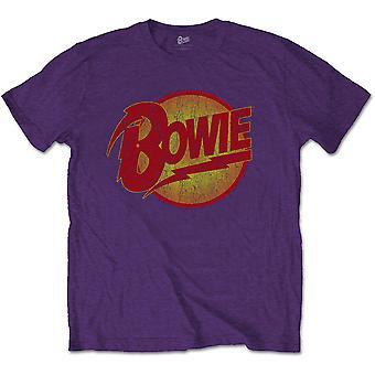 David Bowie Vintage Diamond Dogs Logo Officiel Tee T-Shirt Mens Unisex