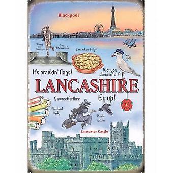 Lancashire Metal Sign