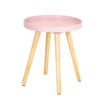 Charles Bentley Tray Top Side Table with Pine Legs Blush Living Bed Room Scandi