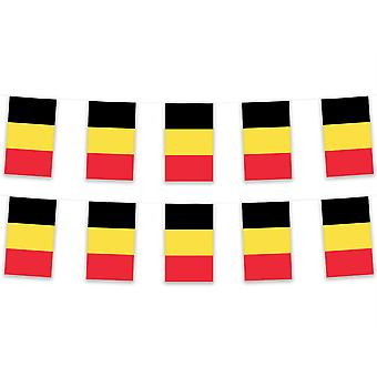 Pack of 3 Belgium Bunting 15m Polyester Fabric Country National