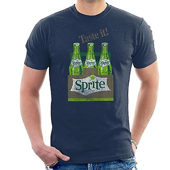 Sprite Taste It 1960s Retro Bottles Men's T-Shirt
