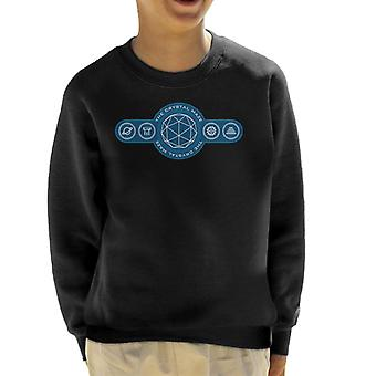 The Crystal Maze Logo Symbols Kid's Sweatshirt