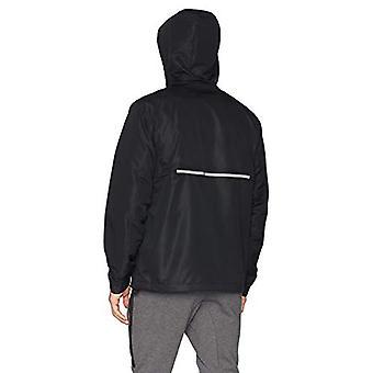 Peak Velocity Men's Zephyr Windbreaker Loose-Fit Anorak Jacket, Black, XXX-La...