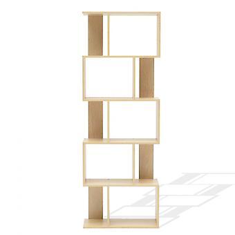 Rebecca Mobili Libreria Scaffale 5 Ripiani Legno Beige Moderno 172,5x60x24
