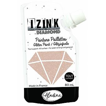 Aladine Izink Diamond Glitter Paint Gold Copper 80ml.
