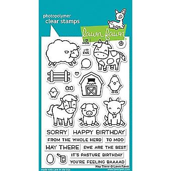 Lawn Fawn Hay There Clear Stamps