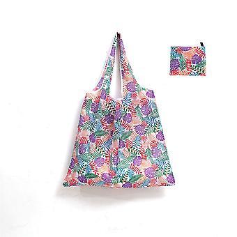 Winkelen Tote Herbruikbare dame boodschappentas opvouwbare grote milieuvriendelijke draagtas met duidelijke bedrukking en verven patroon