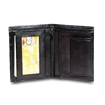 Primehide BASIC - Mens Leather Wallet - RFID Blocking - Preto / Marrom - 48