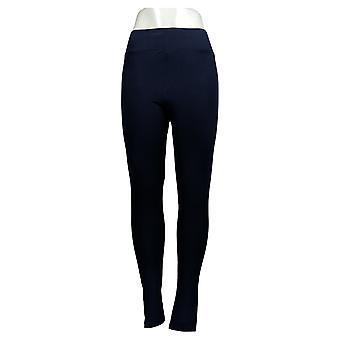 LOGO Layers par Lori Goldstein Leggings Knit Back Pockets Blue A368199