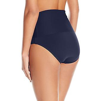 Trina Turk Women's High Waist Roll Up Hipster Bikini Swimsuit Bottom, Midnigh...