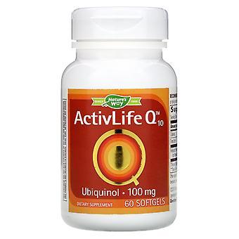 Nature-apos;s Way, ActivLife Q10, 100 mg, 60 Softgels