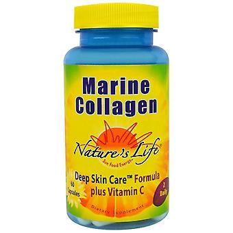 Nature's Life, Marine Collagen,  60 Capsules