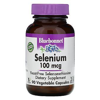 Bluebonnet Nutrition, Sélénium, 100 mcg, 90 Vcaps