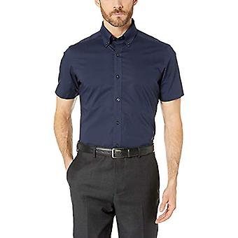 BUTTONED DOWN Men's Tailored Fit Stretch Button-Collar Short-Sleeve Non-Iron ...