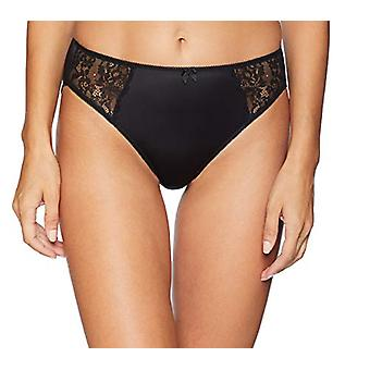 Marchio - Arabella Women's Standard Hi Leg Pizzo Detail Panty, 3 Pack, Bl...