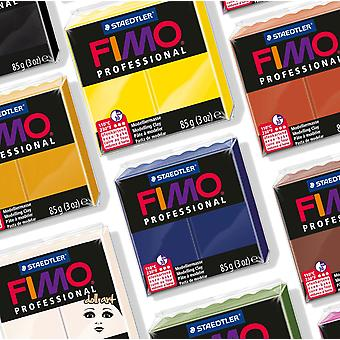 FIMO PROFESSIONAL POLYMER MODELING FOUR BAKE CLAY 85g - 29 COLOURS INC DOLL ART