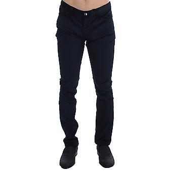 Blue Corduroy Slim Fit Pants Jeans SIG17938-1