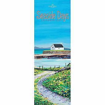 Otter House 2021 Slim Calendar-seaside Days