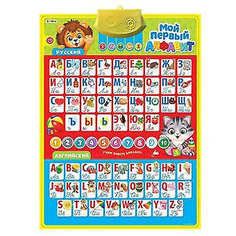 Electronic Phonetic Chart Wall Russian Language Alphabet Speak Learning Machine For Kids- Early Education Animal Car