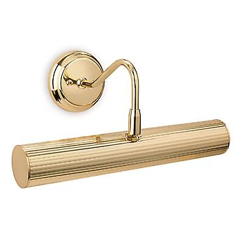 2 Light Picture Wall Light Polished Brass, E14