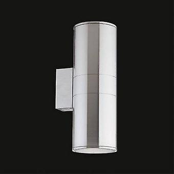 Ideal Lux Gun - 2 Light Outdoor Large Up Down Wall Light Aluminium, Putty IP54, E27