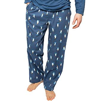 Cyberjammies Arthur 6525 Miehet&s Blue Mix Penguin Tulosta Pyjama Pant