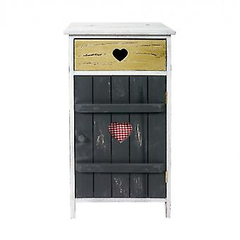 Rebecca Furniture Comfort Cabinet 1 Lade 1 Grijze Anta Retro 71x36.5x30.5