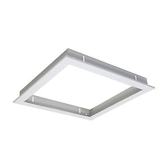White Recessed Frame For 30×30 Led Panel