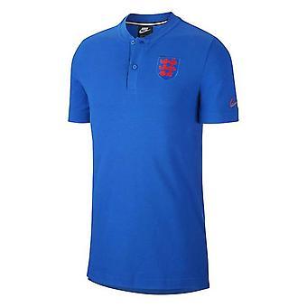 2020-2021 England Nike Autentisk pikétröja (Blå)