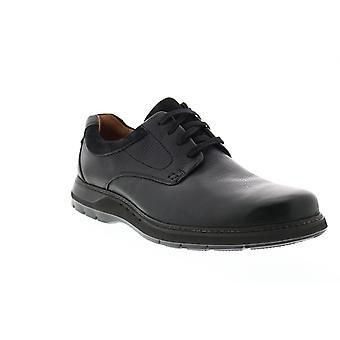 Clarks Un Ramble Lo Mens Schwarz Oxfords & Schnürsenkel Plain Toe Schuhe