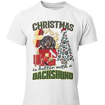 Dackel T-shirt Weihnachten Hund T-shirt Weihnachten Pullover Stil Dackel