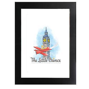 Der kleine Prinz Big Ben Flugzeug gerahmt Druck