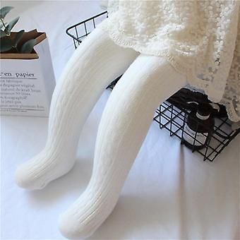 Spring Knitted Baby Pantyhose Twist Bottom, Kid Girl Ribbed Stockings